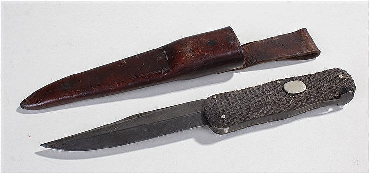 Rare George Butler & Co. Sheffield folding dagger,