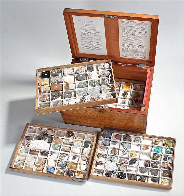 Fine Victorian collection of Minerals, Rocks and Fossils, by James Tennant,
