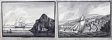 Pair of 19th Century watercolours, East Teignmouth from the Sea and Entranc