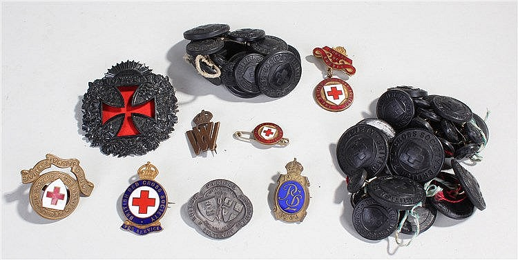 Collection of Red Cross Badges, to include buttons, enamel examples, etc, (
