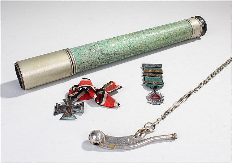 Mixed militaria, to include a W Ottway & Co Ltd, Ealing, London telescope,