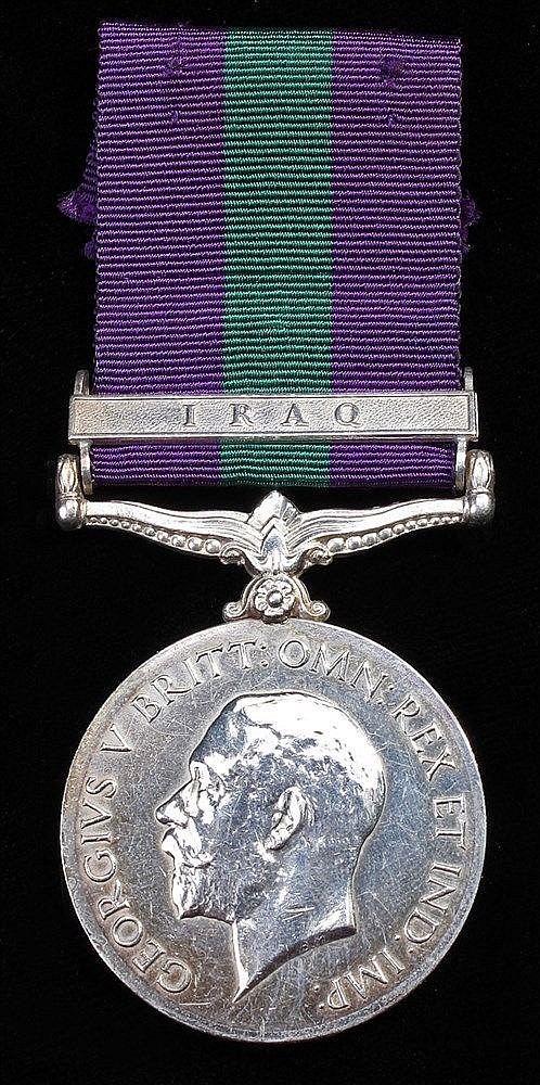 General Service medal 1918-1962, GV, 1 clasp Iraq, (M-23292 PTE. T. MC KEAN