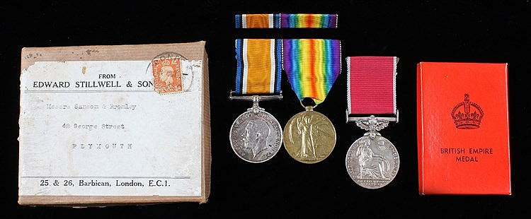 First World War and British Empire medal group, to include a First World Wa