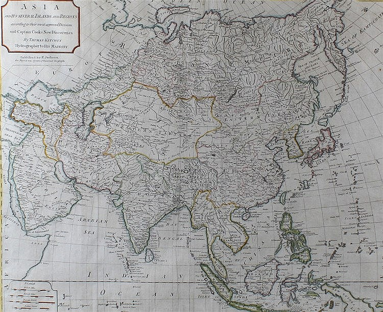 Thomas Kitchin, Asia and it's several Islands and Regions, according to the