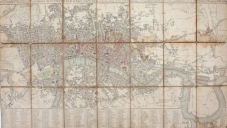 Smith's Map of London, Smith's new plan of London, Westminster & Southwark,