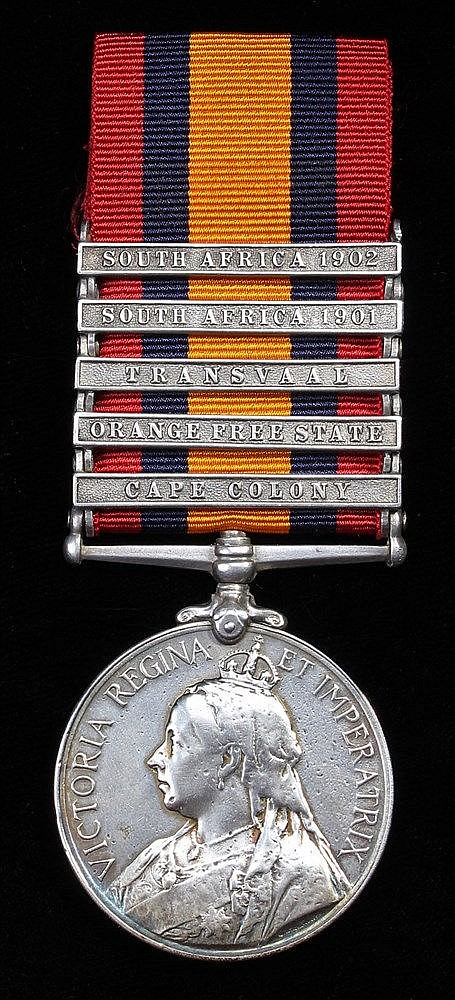 Queen South Africa 1899-1902, five clasps, Cape Colony, Orange Free State,
