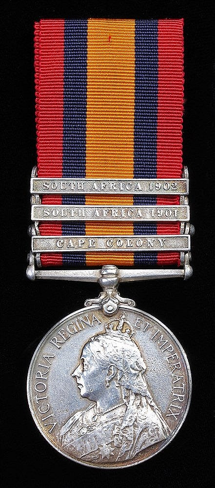 Queen South Africa 1899-1902 three clasps Cape Colony, South Africa 1901 an
