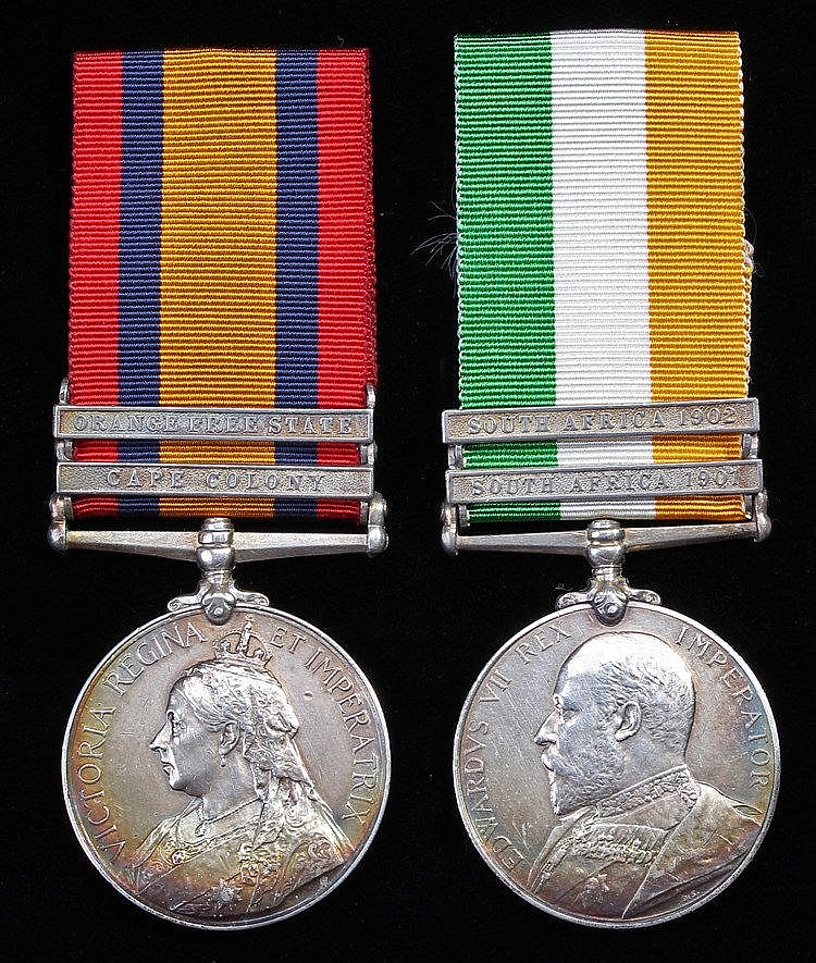 Queen South Africa & King South Africa pair, Queen South Africa two clasps