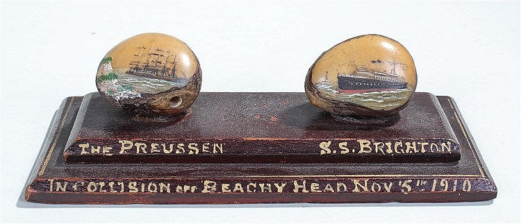 Interesting desk ornament, a relic from the collision of two ships off Beac