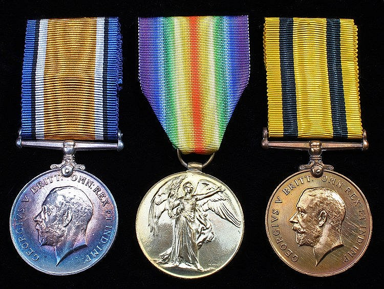 Suffolk First World War medal group, to include Victory medal ( 994 PTE. W.