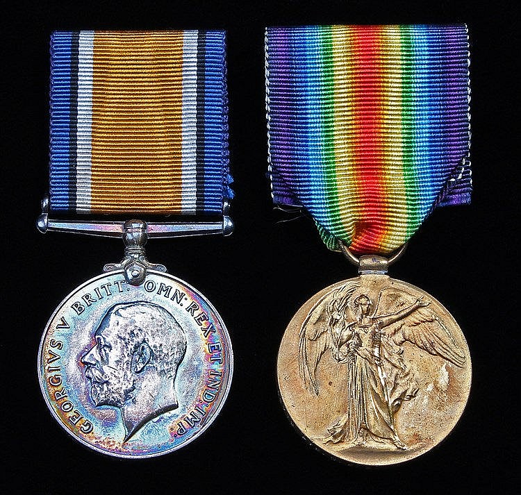 First World War pair, British War and Victory Medal, (55712 PTE. C.E. PATRI