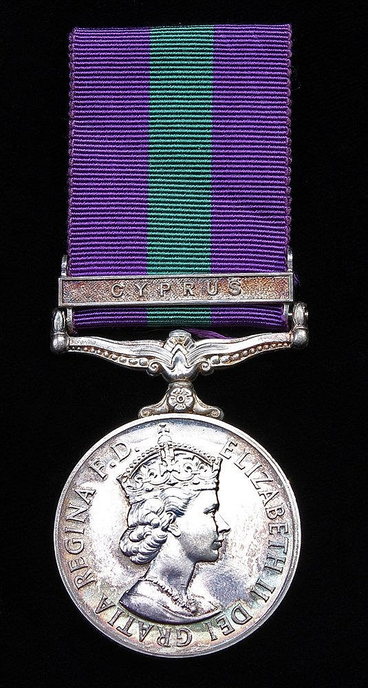 General Service medal 1918-1962, EII, 1 clasp Cyprus, Police Sergeant (2775