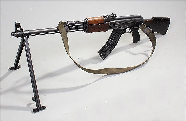 Zastava AK47 type light machine gun, Country of Origin Yugoslavia, 1983, th