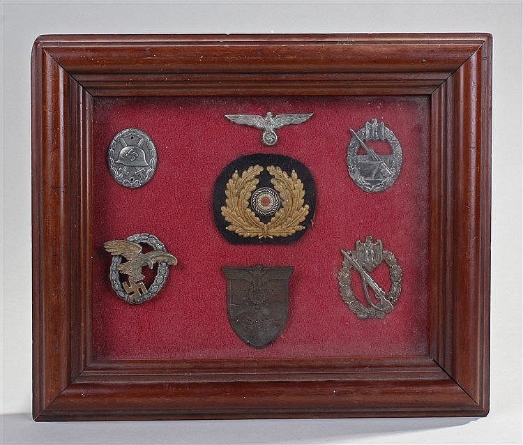 German Second World War badges, Luftwaffe Observers badge, Gold Wound Badge
