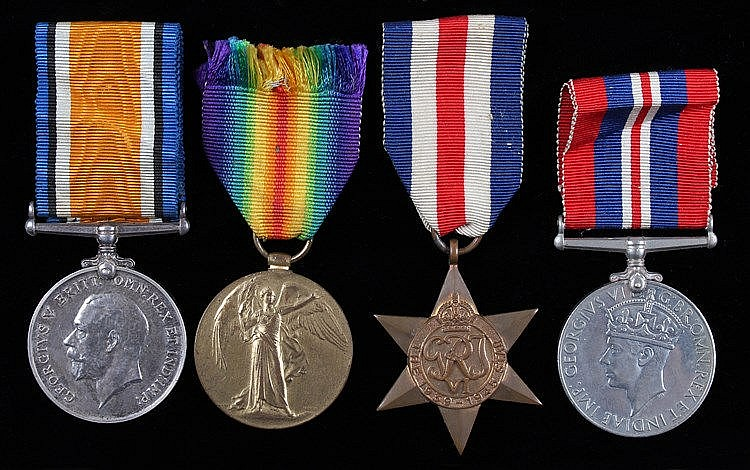 First and Second World War medals, to include a First War Victory medal (J.