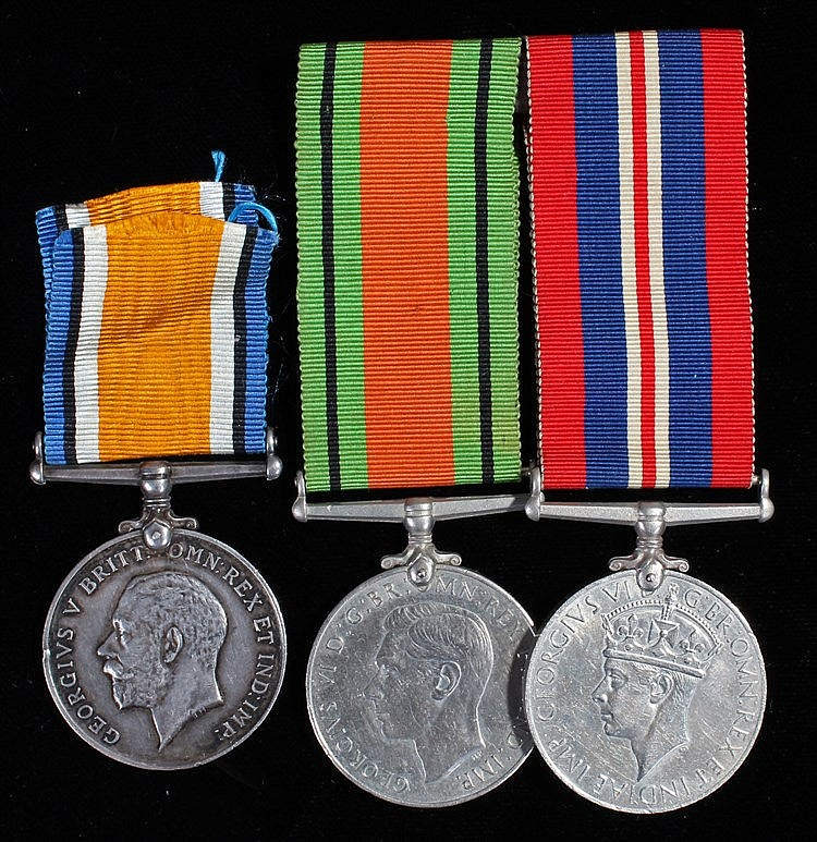 Medals, to include First World War War medal (880120 DVR. H.V. BLAKE. R.A.)