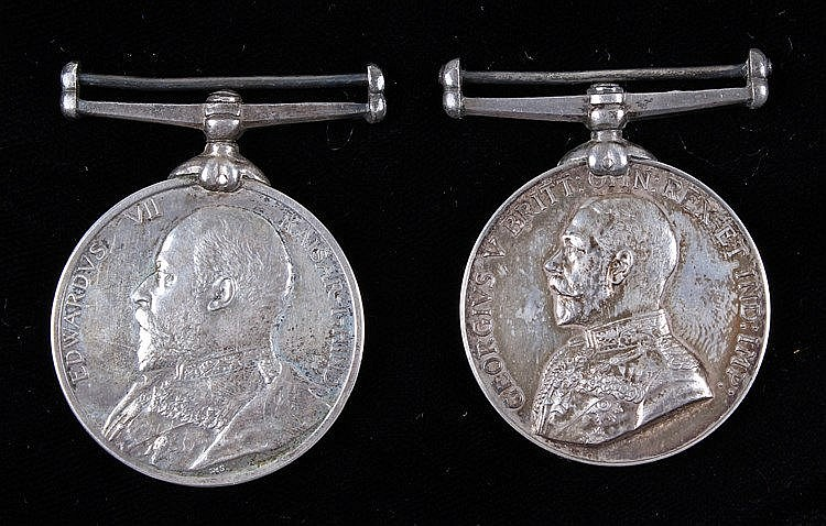 Pair Volunteer Long service medals, awarded to (VOL G O'SULLIVAN N.W. VOL R