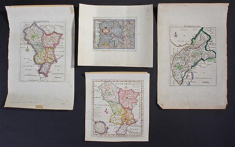 Thomas Kitchin (1718-1784) hand coloured map of Cumberland and a hand colou