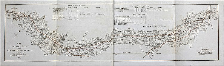James Green, 1819, Map of the turnpike road from Plymouth to Exeter, J Cary