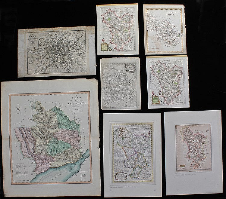 Mixed maps, to include Thomas Kitchin Derbyshire, New Plan of Manchester, J