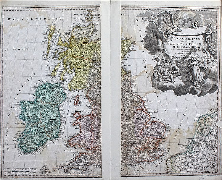 Johann Baptist Homann, Magna Britannia Complectens Angliae Scotiae et Hiber