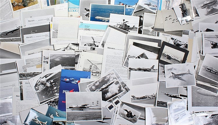 Intriguing collection of aviation photographs, mainly press photographs to