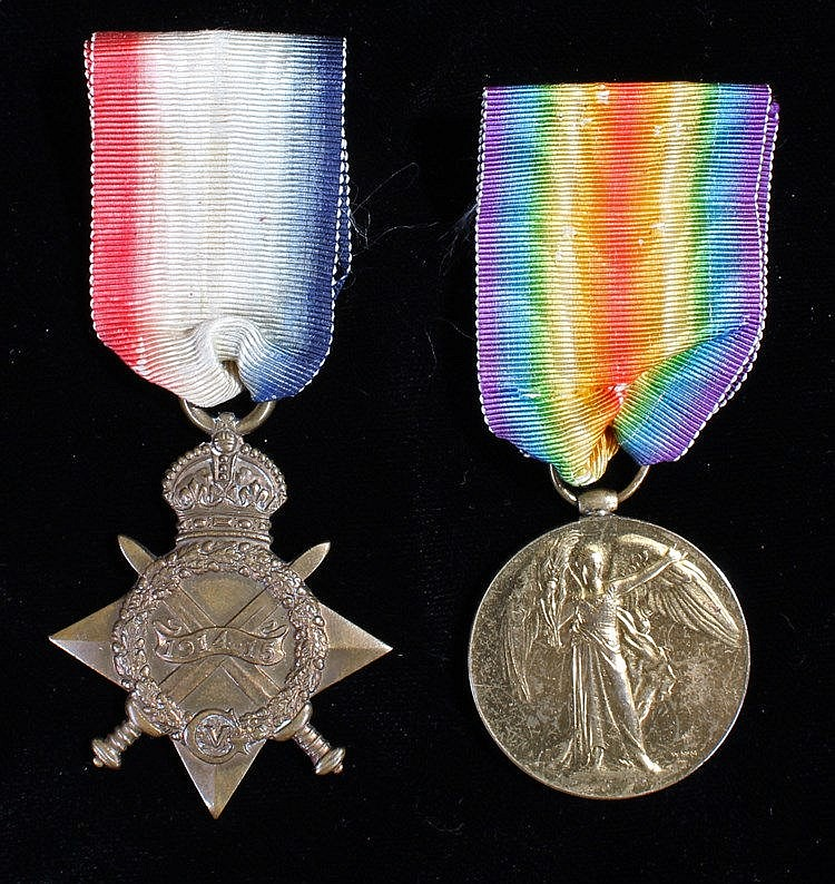 First World War pair, 1914-15 Star and Victory medal, (18/62 PTE S.C. FIELD