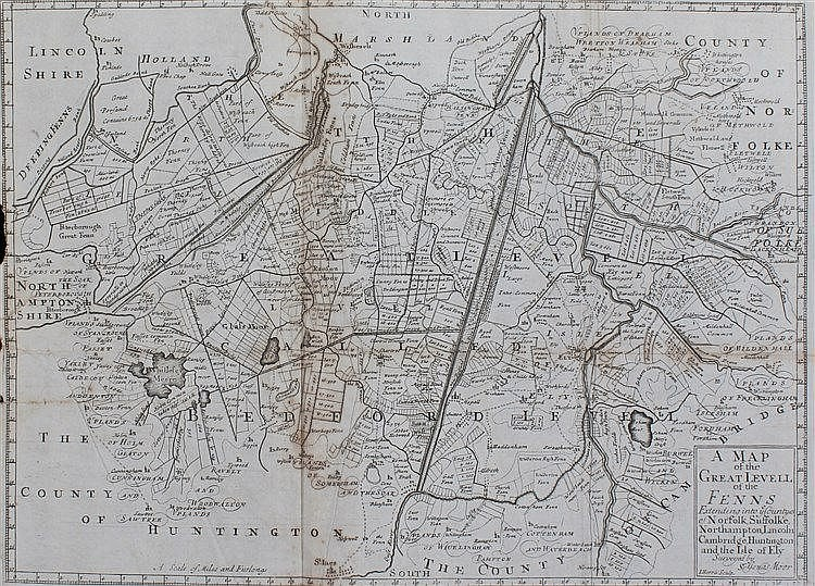 John Harris, 1720, A Map of the Great Levell of the Fen Extending into the