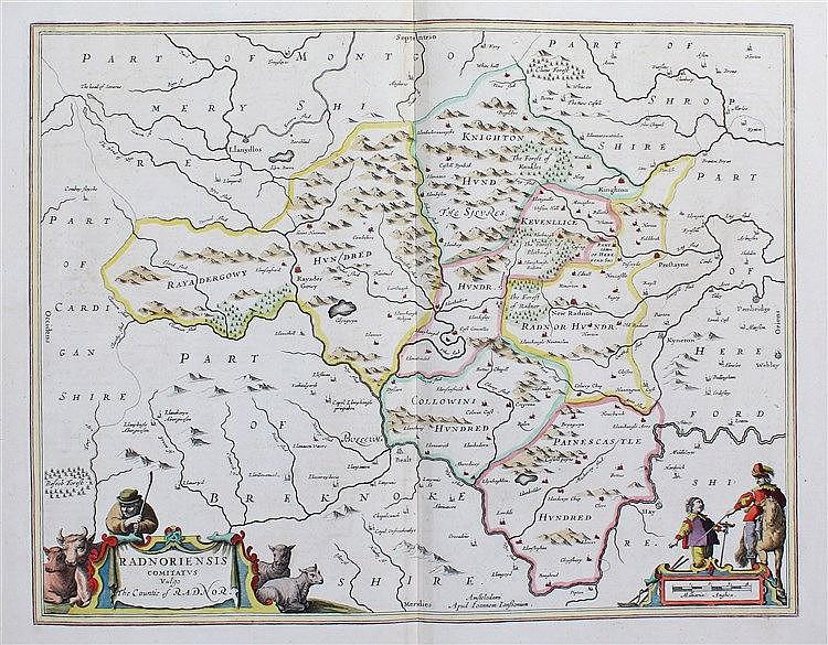 Johannes Janssonius, (1588-1664) Radnoriensis Comitatus Vulgo The Countie o