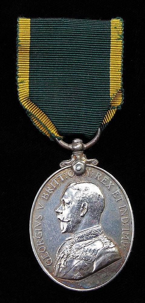 Territorial Efficiency Medal, GV (74694 SJT H. COLE R.E.)