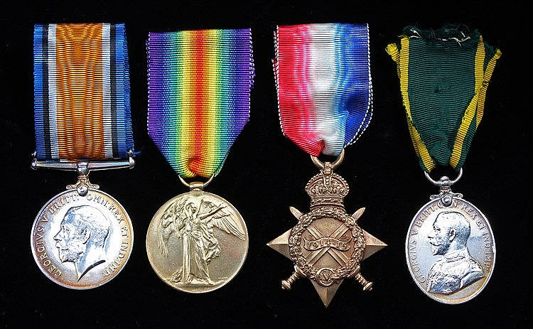 First World War Trio, 1914-15 Star, British War Medal, Victory Medal (1198