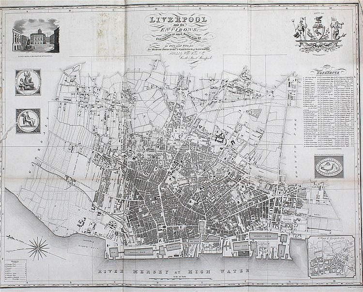 William Swire, Liverpool and its Environs. Engraved from and Actual Survey
