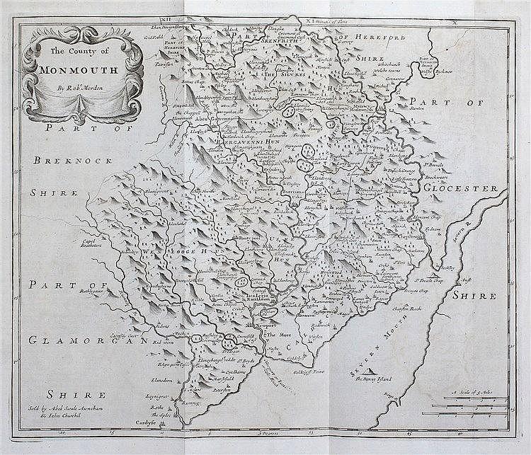Robert Morden, 17th Century, The County of Monmouth, 42cm x 35cm