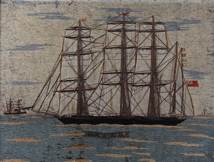 Fine 19th Century woolwork picture,
