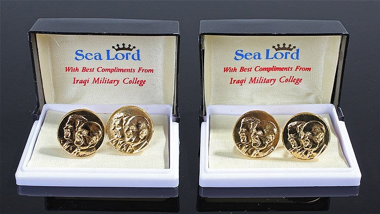 Iraqi Military Cufflinks, the cufflinks were issued to all military officer