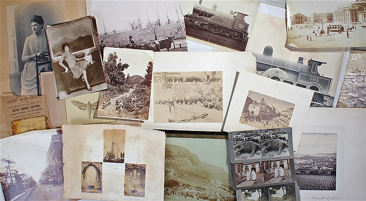 Quantity of Photographs, including L&NWR; 1301 Teutonic steam engine, natura