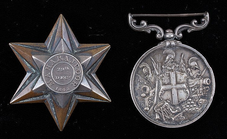 Gwalior campaign medal, the Gwalior Star, Maharajpoor, SERGEANT JOHN SULLIV