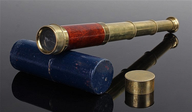 Mid 19th Century 4 draw brass telescope, by G Merz and Son, the thickest dr