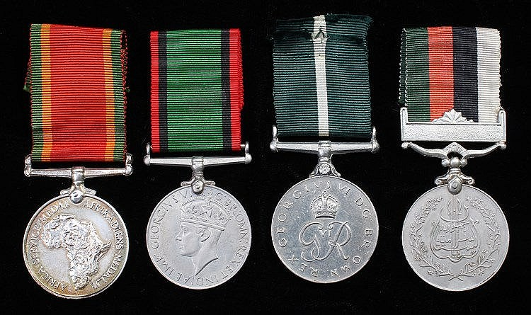 General Service medals, to include Africa (281476 E.H. RAUBENHETMER) also t
