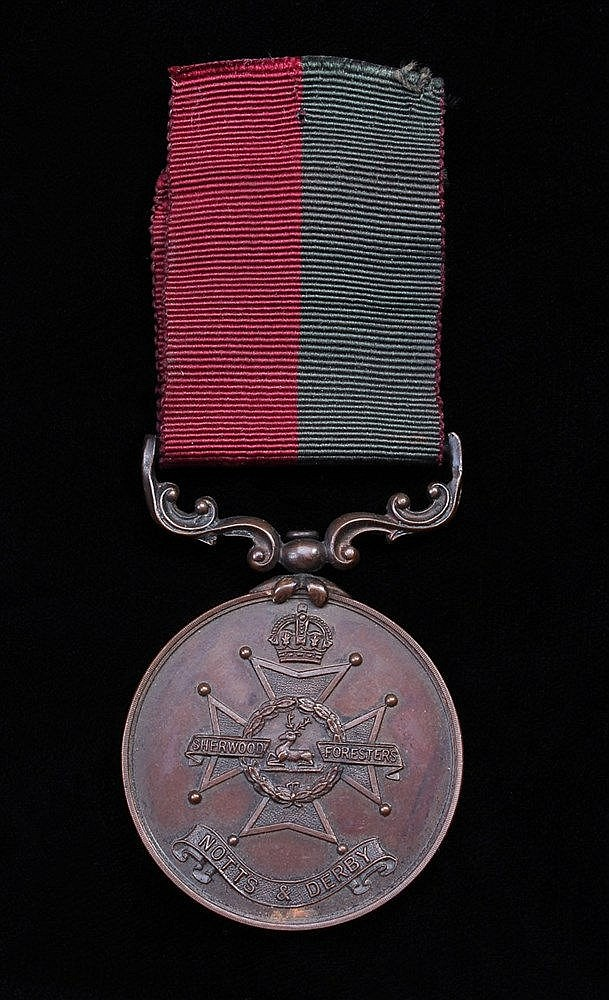 Sherwood Foresters medal, Notts & Derby, (PTE W. CONROY)