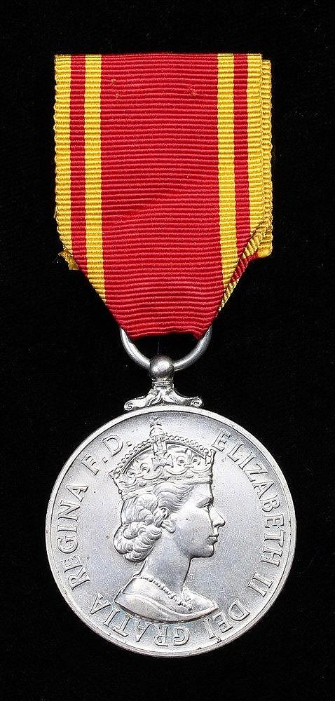 Exemplary Fire Service medal, (STN. OFFR. ALEC. A. BAKER)