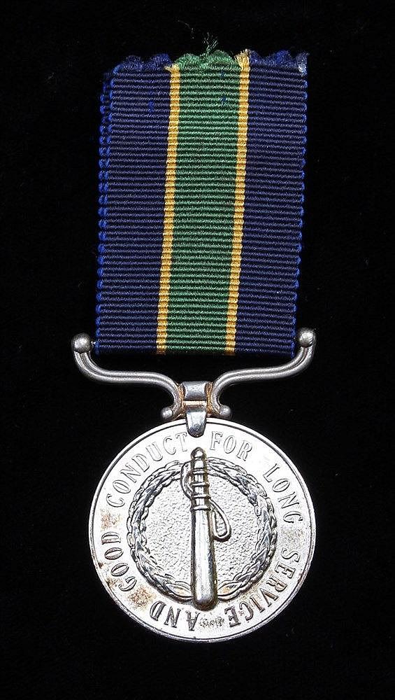 Rhodesia Police Good Conduct Long Service, (14902 SGT TSANZIRAYI)