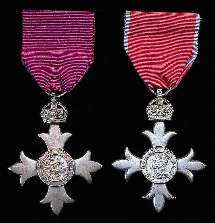 Two M.B.E. medals, to include an M.B.E. 1st issue and an M.B.E. 2nd issue,