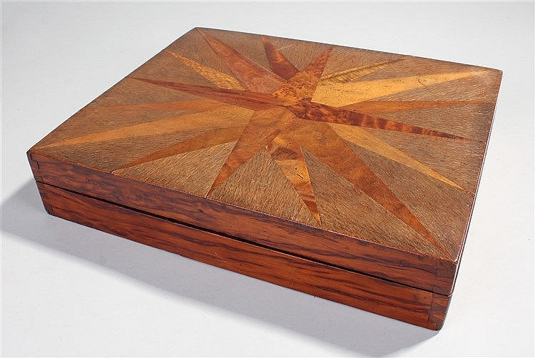Rare late 19th Century New Zealand specimen wood box, almost certainly Will