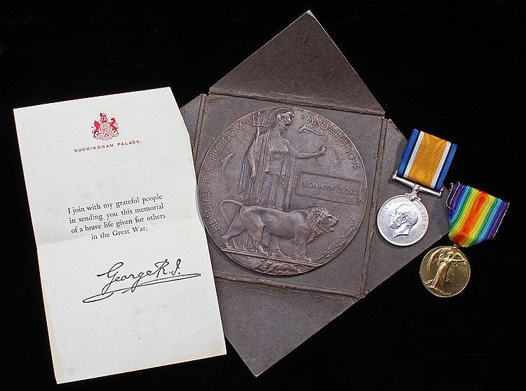First World War casualty group, British War Medal and Victory Medal (24664