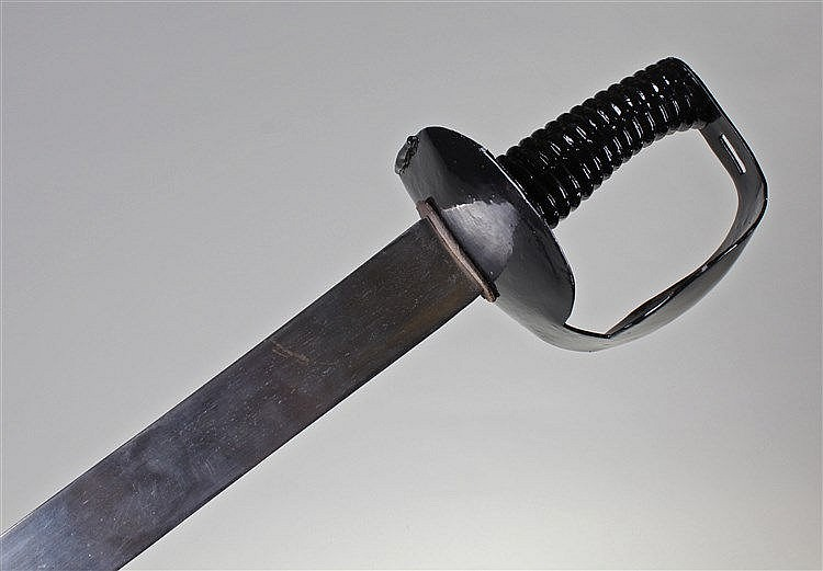 Naval seaman's cutlass, 1804 pattern, single edge straight 73cm blade, shap