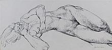 Fyffe Christie (1918-1979) Lying Figure With Hand Over Eyes,signed lower ri