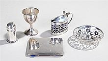 Collection of silver, various dates and makers, to include a pepper, a cup,