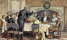 George Goodwin Kilburne, R.I., R.B.A. (1839-1924) The Toast, signed waterco