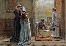 George Goodwin Kilburne, R.I., R.B.A. (1839-1924) Mourning, signed watercol